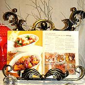 """Сувениры и подарки ручной работы. Ярмарка Мастеров - ручная работа """"Закованный рецепт"""" - Подставка для кулинарной книги. Handmade."""
