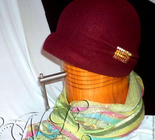 """Шляпы ручной работы. Ярмарка Мастеров - ручная работа. Купить Шляпка валяная """"Бургундия...!"""". Handmade. Бордовый, шляпка валяная"""