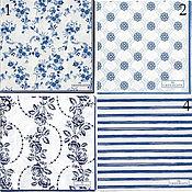 4 вида  Салфетки Green gate Дания синие
