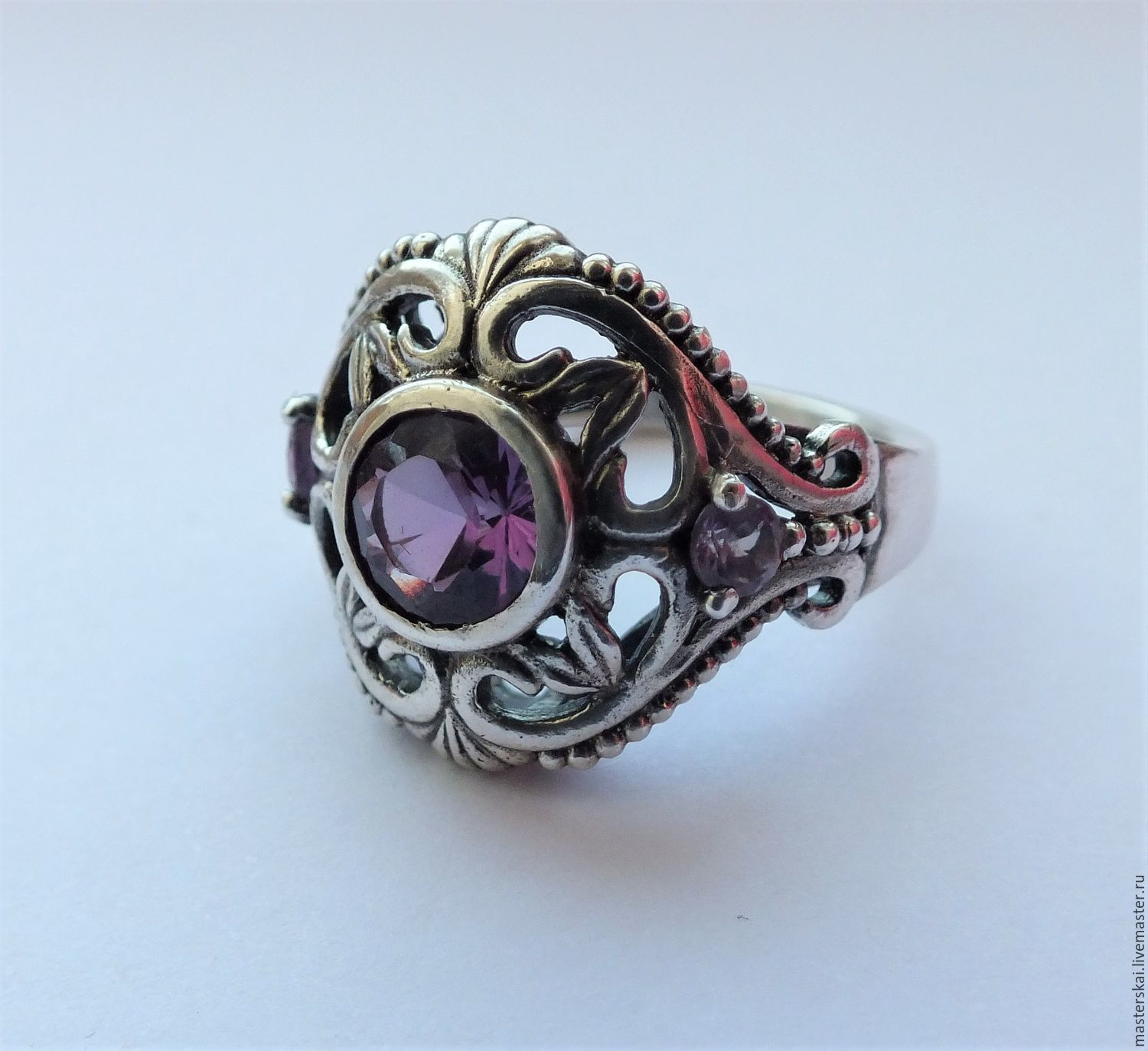 Ring 'Alicia' - corundum, silver, Rings, Moscow,  Фото №1