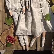 Куклы и игрушки ручной работы. Ярмарка Мастеров - ручная работа Куклы в льняных рубахах. Handmade.