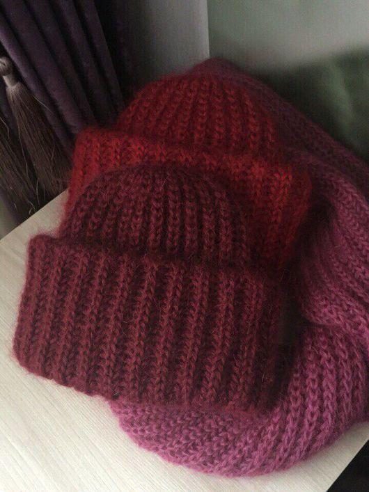Шапки ручной работы. Ярмарка Мастеров - ручная работа. Купить Мохеровая шапка, шапка в стиле Takori. Handmade. Шапка