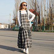 Одежда handmade. Livemaster - original item Winter boho sundress Sophie, wool, leather, cotton. Handmade.