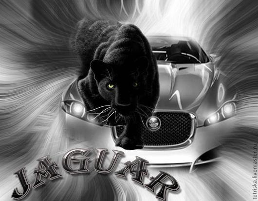 Иллюстрации ручной работы. Ярмарка Мастеров - ручная работа. Купить автомобиль хищник скорость. Handmade. Темно-серый, машина, пантера