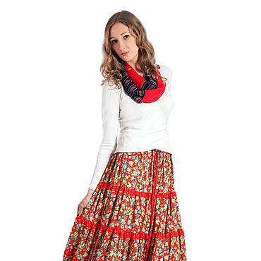 """Одежда ручной работы. Ярмарка Мастеров - ручная работа летняя ярусная юбка ,,Мария"""". Handmade."""