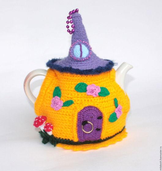 """Кухня ручной работы. Ярмарка Мастеров - ручная работа. Купить Грелка на чайник """"Домик в лесу"""". Handmade. Комбинированный, декор кухни"""