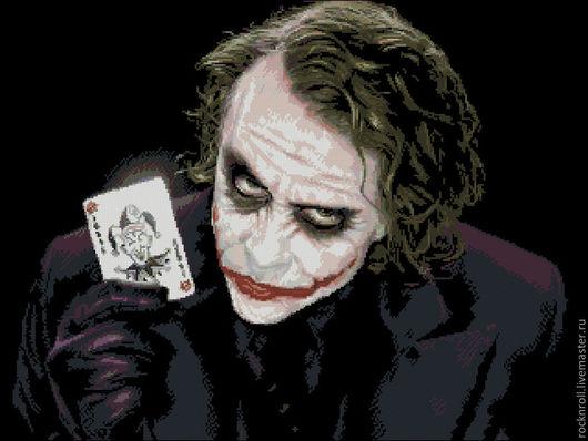 """Вышивка ручной работы. Ярмарка Мастеров - ручная работа. Купить Авторская схема вышивки """"Джокер"""". Handmade. Джокер"""