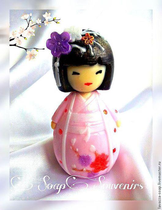 Мыло ручной работы. Ярмарка Мастеров - ручная работа. Купить Мыло Гейша). Handmade. Розовый, японский стиль, мыло сувенирное