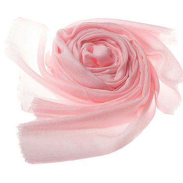 Аксессуары ручной работы. Ярмарка Мастеров - ручная работа Палантин из кашемира бледно-розового оттенка. Handmade.