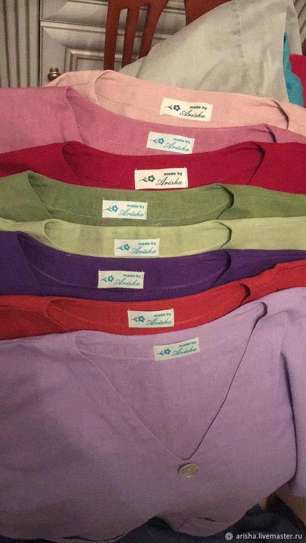 Бохо блуза изо льна 8 цветов, Блузки, Москва,  Фото №1