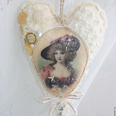 Куклы и игрушки ручной работы. Ярмарка Мастеров - ручная работа Шебби сердце винтажное. Handmade.