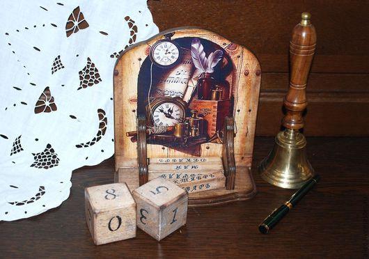 Персональные подарки ручной работы. Ярмарка Мастеров - ручная работа. Купить Вечный календарь. Handmade. Коричневый, мужской подарок, дерево