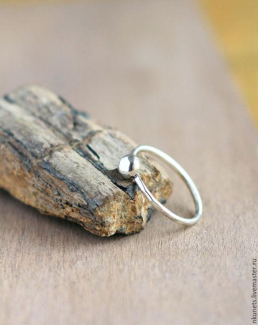 Кольца ручной работы. Ярмарка Мастеров - ручная работа. Купить Серебряное кольцо с шариком. Handmade. Серебряный, серебро, минимализм