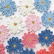 Материалы для творчества handmade. Livemaster - original item Daisy patch (set). Knitted flowers for jewelry, scrapbooking. Handmade.
