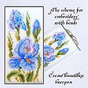 Материалы для творчества handmade. Livemaster - original item The scheme for embroidery with beads Irises. Handmade.