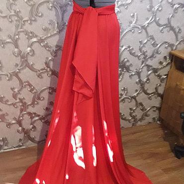 Одежда ручной работы. Ярмарка Мастеров - ручная работа Платье трансформер Красный шёлк. Handmade.