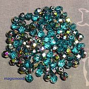 Материалы для творчества handmade. Livemaster - original item 25pcs spacer Beads 4mm V60150 Czech Fire Polished beads. Handmade.