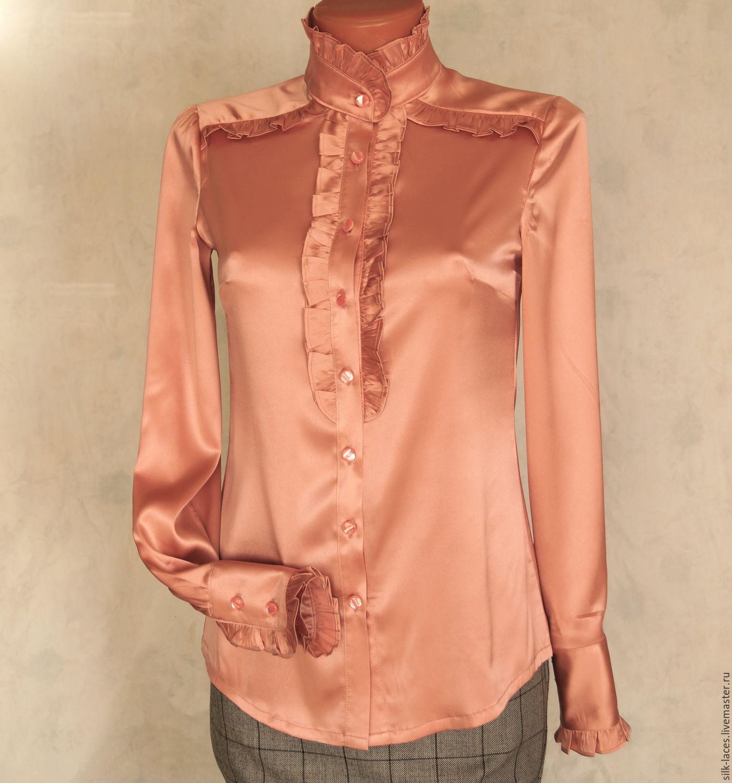 Блузки розовые купить