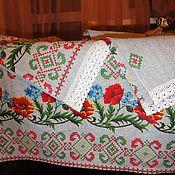"""Для дома и интерьера ручной работы. Ярмарка Мастеров - ручная работа Скатерть """"Маки"""" 170 см х 145 см + 2 полотенца. Handmade."""