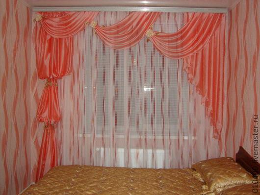 Текстиль, ковры ручной работы. Ярмарка Мастеров - ручная работа. Купить ламбрекен. Handmade. Розовый, шторная лента, микровуаль