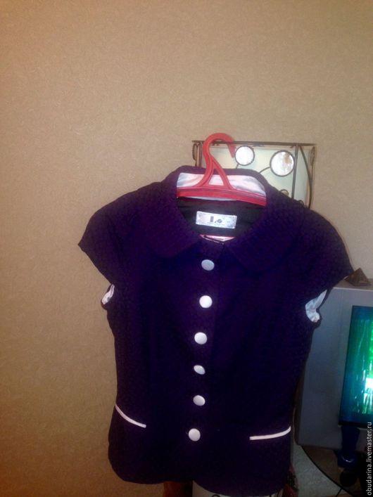 Пиджаки, жакеты ручной работы. Ярмарка Мастеров - ручная работа. Купить жакет. Handmade. Тёмно-фиолетовый, жакет женский, кардиган