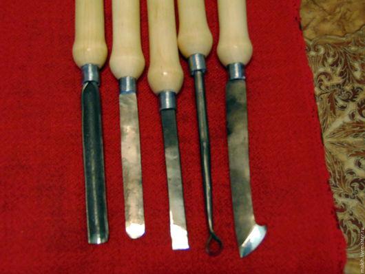 Другие виды рукоделия ручной работы. Ярмарка Мастеров - ручная работа. Купить набор резцов(стамесок). Handmade. Черный, токарка, сталь