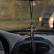 """Сувениры и подарки ручной работы. Ярмарка Мастеров - ручная работа Подвеска """"Крест"""" в машину. Handmade."""