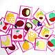 Развивающие игрушки ручной работы. Ярмарка Мастеров - ручная работа. Купить Игра Мемори Фрукты и ягоды. Handmade. Настольная игра