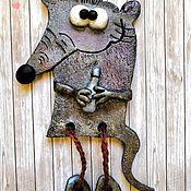 "Магниты ручной работы. Ярмарка Мастеров - ручная работа Магниты: ""Крысёныш с бутылкой"". Handmade."