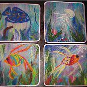 Для дома и интерьера ручной работы. Ярмарка Мастеров - ручная работа Валяные салфетки. Handmade.