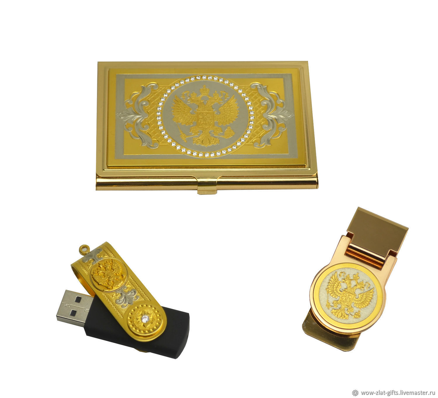 Gift set'business card Holder,flash card,money clip', Gifts for February 23, Chrysostom,  Фото №1
