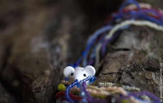 """Детская бижутерия ручной работы. Ярмарка Мастеров - ручная работа. Купить Бусы для девочки """"Кто живет на радуге?"""". Handmade."""