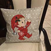 Для дома и интерьера handmade. Livemaster - original item Linen pillow case with embroidery