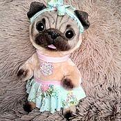 """Куклы и игрушки ручной работы. Ярмарка Мастеров - ручная работа """"Арлетт"""" щенок мопса. Handmade."""