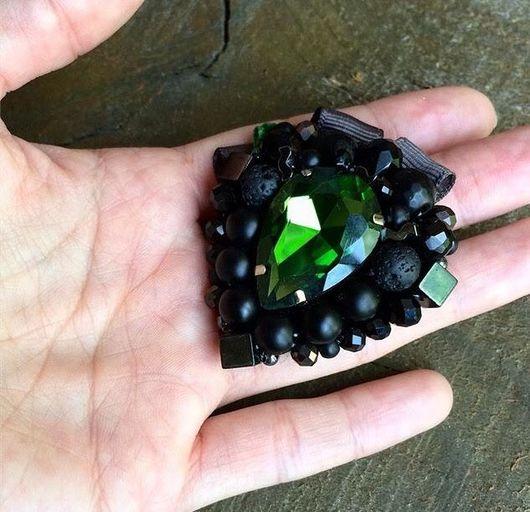 """Броши ручной работы. Ярмарка Мастеров - ручная работа. Купить Брошь """"Green rock"""". Handmade. Брошь, брошь на платье, украшение"""
