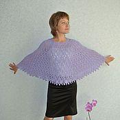 """Одежда ручной работы. Ярмарка Мастеров - ручная работа Пончо - накидка  """"Lavender"""". Handmade."""