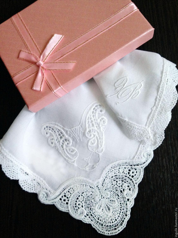 Handkerchief women's Sphinx Baptiste cotton lace monogram, Shawls1, Moscow,  Фото №1