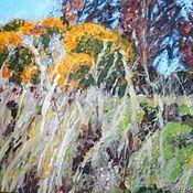 Картины ручной работы. Ярмарка Мастеров - ручная работа Последние краски осени. Пейзаж, холст, акрил. Handmade.