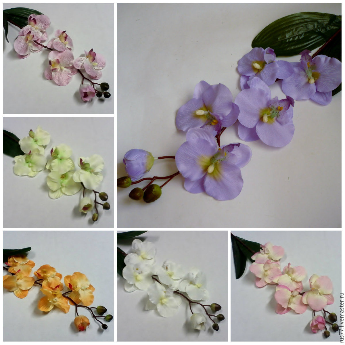 Как сделать орхидею из ткани фото