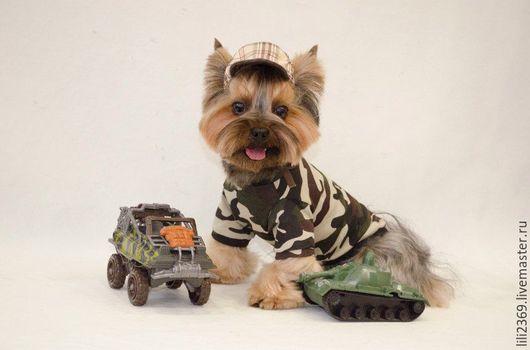 """Одежда для собак, ручной работы. Ярмарка Мастеров - ручная работа. Купить Байка """"Камуфляж"""". Handmade. Комбинированный, одежда для собак, байка"""