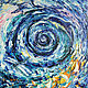 """Абстракция ручной работы. Ярмарка Мастеров - ручная работа. Купить """"Твои глаза"""".. Handmade. Комбинированный, абстракция, картина для интерьера, синий"""