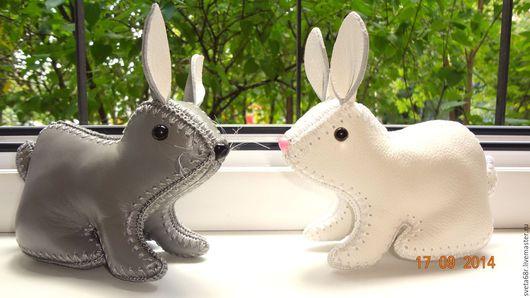Куклы и игрушки ручной работы. Ярмарка Мастеров - ручная работа. Купить кролик из кожи. Handmade. Кролик из кожи, кожа натуральная
