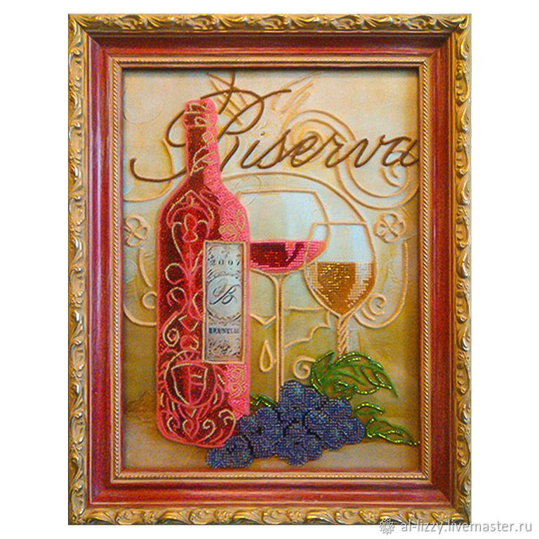 """Картина вышитая  бисером """"Хмельное вино"""", Картины, Черкесск,  Фото №1"""
