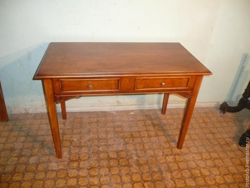 Как реставрировать письменный старый стол своими руками 930