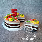 Куклы и игрушки handmade. Livemaster - original item Educational game designer Cake from felt. Handmade.