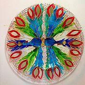 """Посуда ручной работы. Ярмарка Мастеров - ручная работа Тарелка """"Павлин"""". Handmade."""