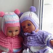 """Работы для детей, ручной работы. Ярмарка Мастеров - ручная работа комплект одежды для двойняшек 6 в 1 """"Нежный"""". Handmade."""