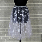Одежда handmade. Livemaster - original item Skirt of soft tulle adult Snowflake. Handmade.