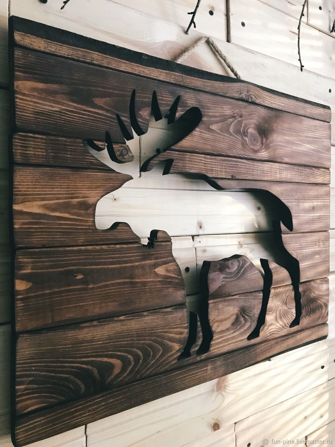 Wooden elk painting panels, Pictures, Moscow,  Фото №1