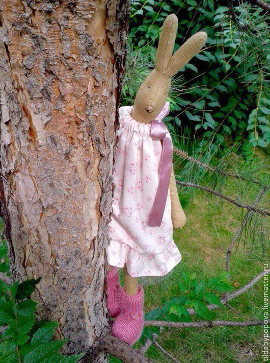 Игрушки животные, ручной работы. Ярмарка Мастеров - ручная работа. Купить Зайчик в розовом платье в стиле Майлег. Handmade. Розовый